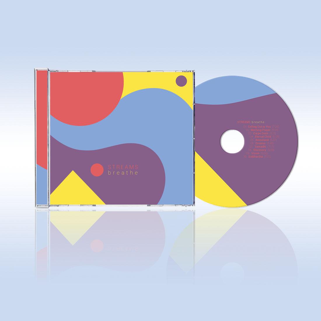 Moon Cube Design, Graphic Design. Album Art, Relaxation music.