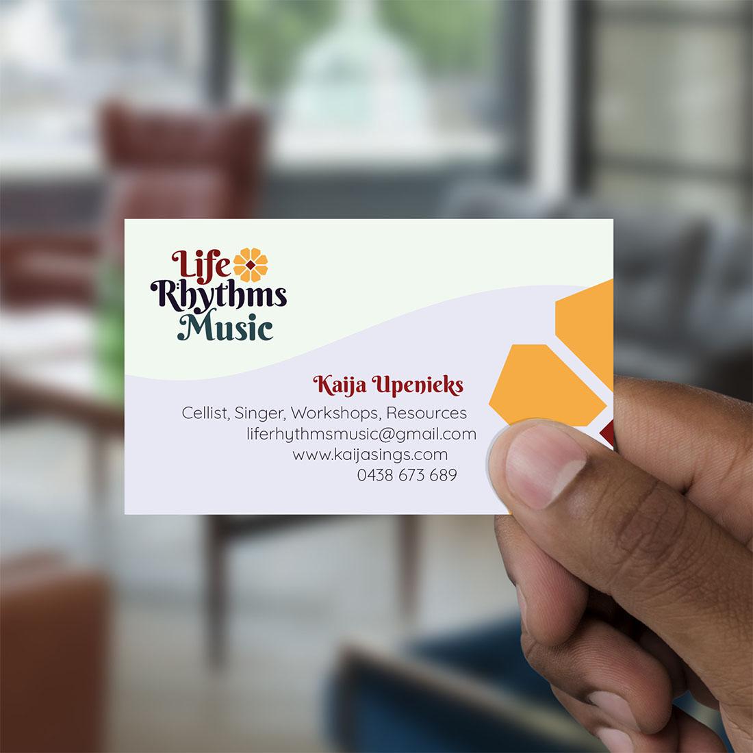 Life Rhythms Music, Business Card Design.
