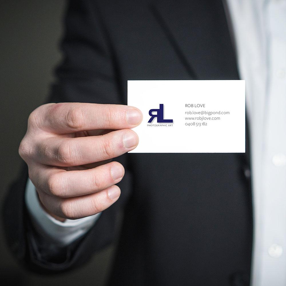 Rob J Love Photography. Business Card Design.
