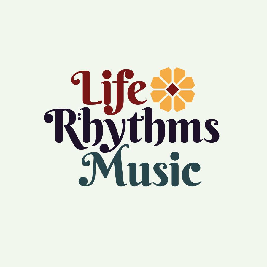 Moon Cube Design, Graphic Design. Logo, Life Rhythms Music.