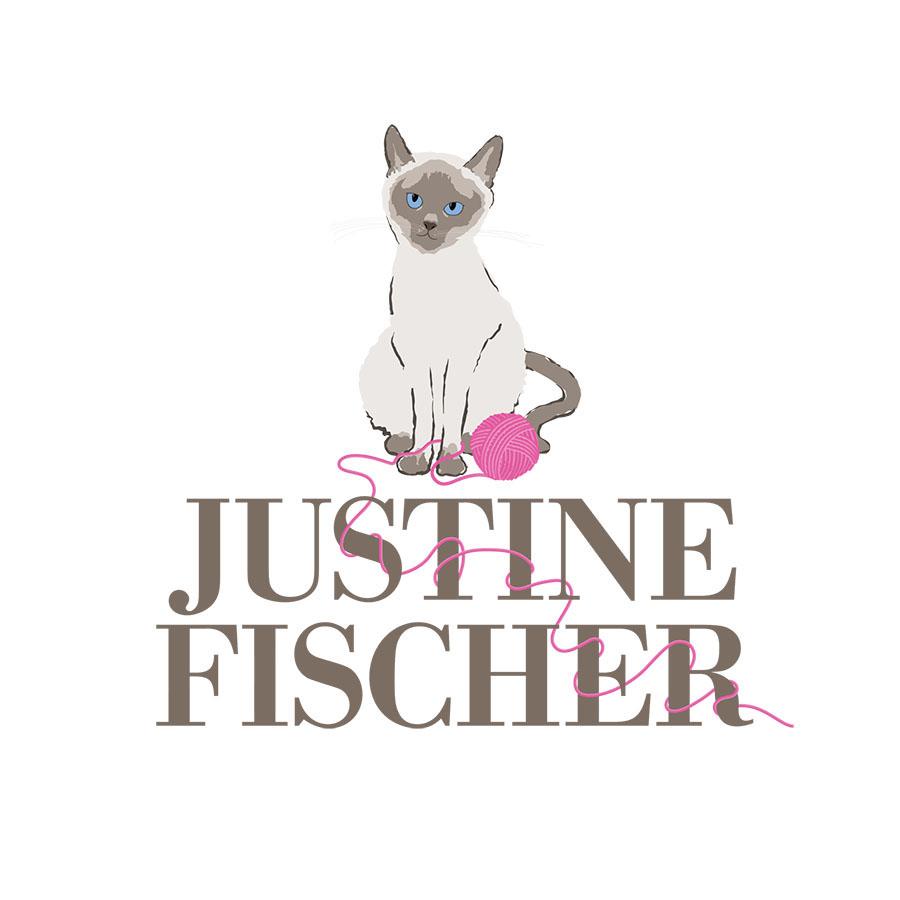 Justine Fischer, Author. Logo Design.