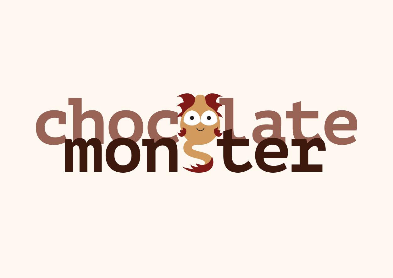 Moon Cube Design, Graphic Design. Logo, Chocolate Monster.