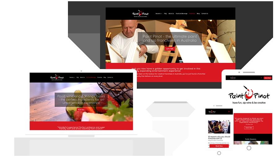 Website Redesign, Paint Pinot Art Café