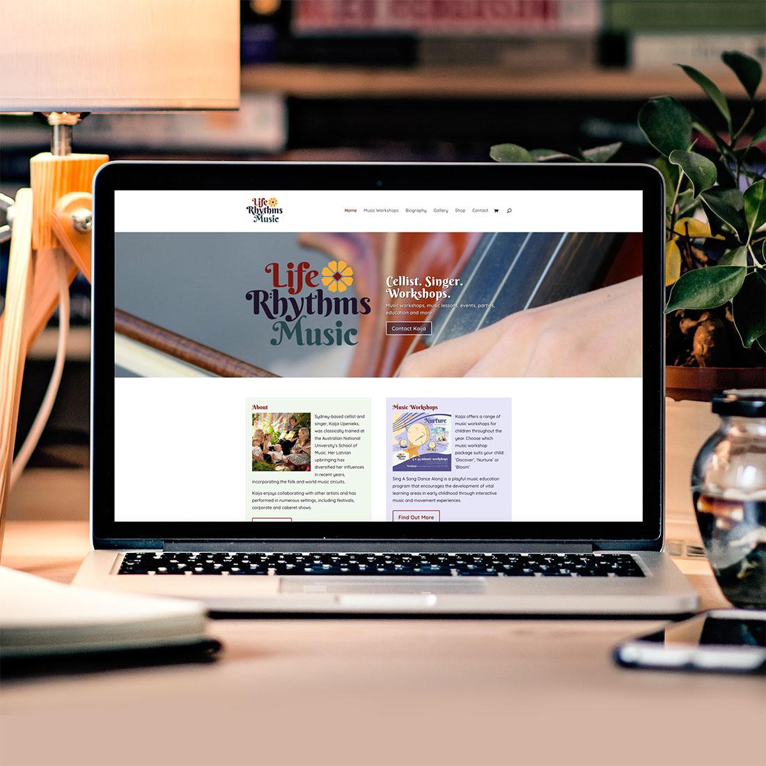 Life Rhythms Music, Website Design.